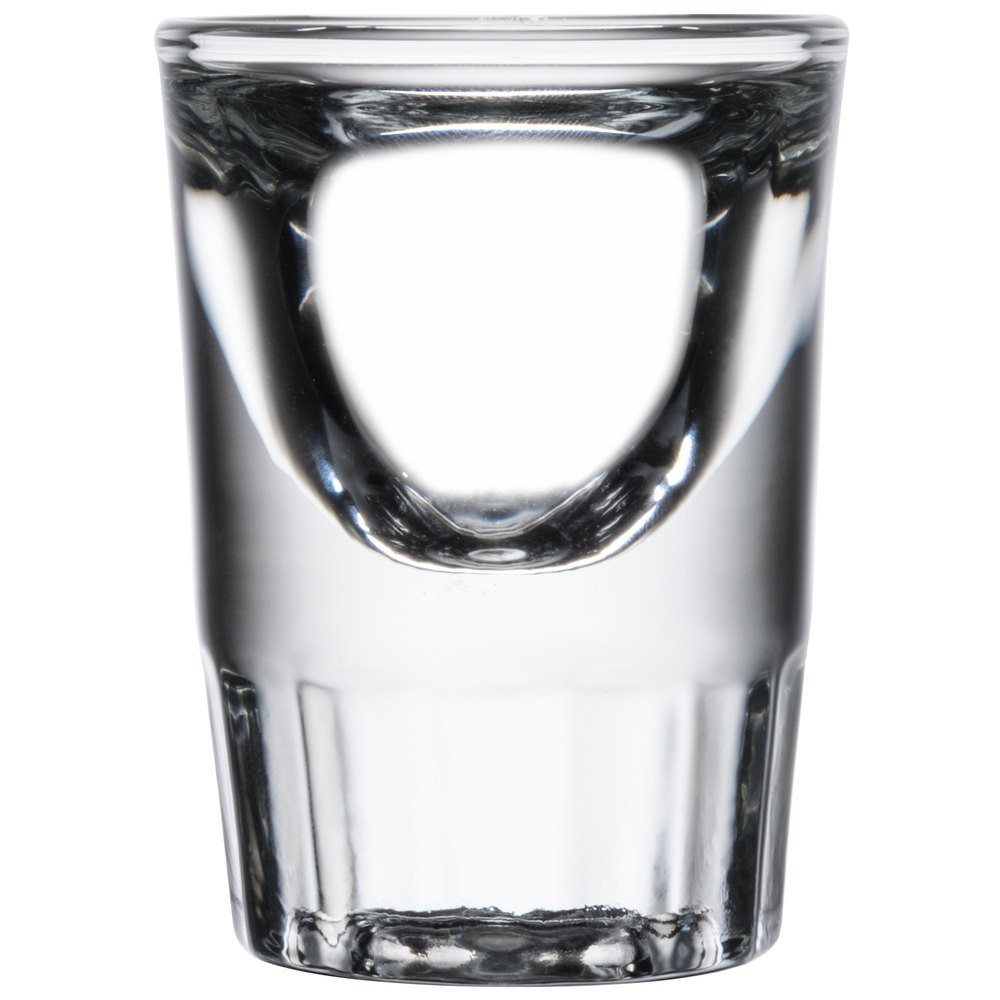 Libbey 5135 Fluted Whiskey / Shot Glass 1.25 oz. - 4 doz