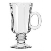 Libbey 5294 Irish Glass Optic Coffee Mug 8.25 oz. - 2 doz