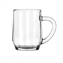 Libbey 5725 All Purpose Glass Optic Mug 10 oz. - 3 doz