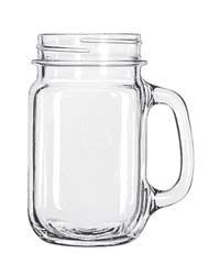 Libbey 97084 Drinking Mason Jar with Handle 16 oz. - 1 doz