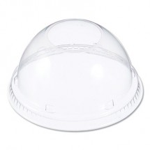 Lids for Foam Cups and Containers, 12-24 oz Cups, Clear, 1000/Carton