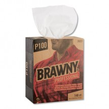"""Brawny Professional P100 Light-Duty Paper Wipers, 12-1/2"""" x 8"""", 20 Boxes/Carton"""