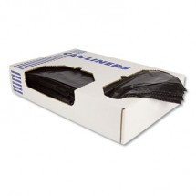 Linear Low-Density Can Liners, 10 gal, 0.55 mil, 24 x 23, Black, 500/Carton