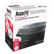 """Linear Low Density Can Liners with AccuFit Sizing, 32 gal, 0.9 mil, 33"""" x 44"""", Clear, 50/Box"""