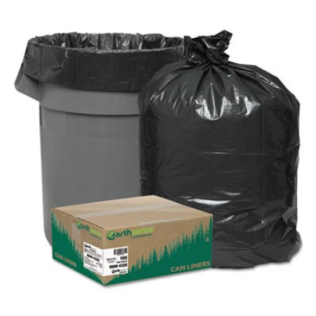 Linear Low Density Recycled Can Liners, 56 gal, 2 mil, 43