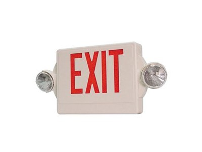 Lithonia LHQM-SW-3-R-120/277 Quick Unit Combo LED Exit Sign
