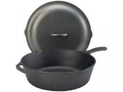 Lodge 8CF2A Cast Iron Chicken Fryer with Cover 3 Qt.