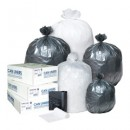 """Low-Density Commercial Can Liners, 16 Gallon, 24"""" x 33"""", Clear, 1,000/Carton"""