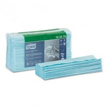 """Tork Low-Lint Cleaning Cloths, Top Pak, Turquoise. 13-1/2"""" x 16-2/5"""", 500 Cloths/Carton"""
