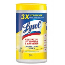 Lysol 4-in-1 Disinfecting Wipes, Citrus, 6 Canisters/Case