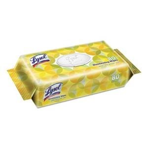 Lysol Disinfecting Wipes, Lemon and Lime Blossom, Flat Packs, 80 Wipes/ Pack, 6 Packs/Carton