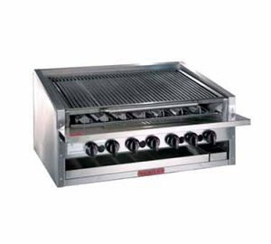 Magikitchn APM-RMB-672CR 72 Counter Top Cast Iron  Radiant Gas Charbroiler