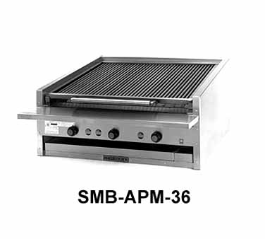 Magikitchn APM-SMB-660 60 Counter Top Gas Coal Charbroiler
