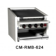 Magikitch-n-CM-RMB-648-48--Counter-Top-Stainless-Radiant-Gas-Charbroiler