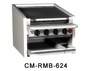 Magikitchn CM-RMB-648CR 48 Counter Top Cast Iron Radiant Gas Charbroiler