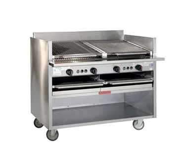 Magikitch'n FM-SMB-648 Floor Model Gas Coal Charbroiler 48""