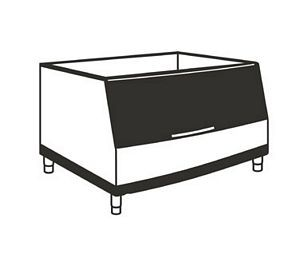 Manitowoc B-170 Ice Bin for Top Mounted Makers - 150 lb. Storage Capacity