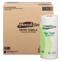 Marcal 100% Premium Recycled Perforated 2-Ply Towels, White, 30 Rolls/Carton