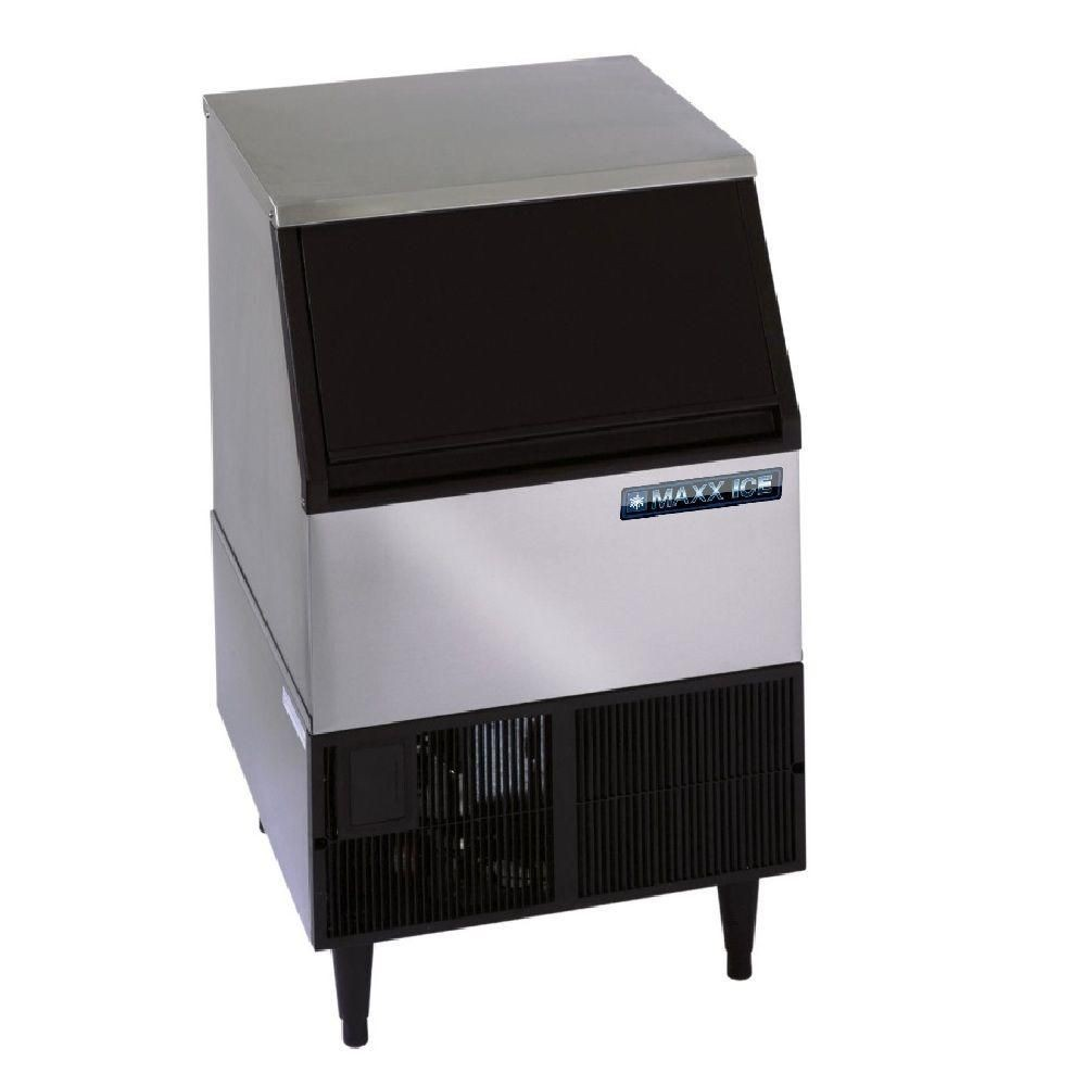 Maxx Ice MIM250 250 Lb. Self-Contained Ice Maker with Bin
