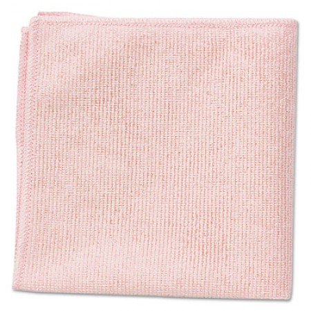 Microfiber Cleaning Cloths, 16 x 16, Pink, 24/Pack