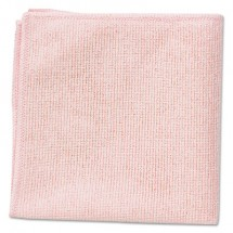 """Rubbermaid Microfiber Red Cleaning Cloths,16"""" x 16"""", 24/Carton"""