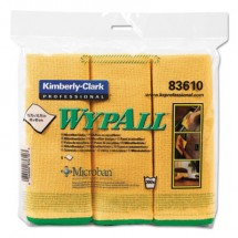 """WypAll Reusable Microfiber Cloths, Yellow, 15 3/4"""" x 15 3/4"""", 6/Pack"""