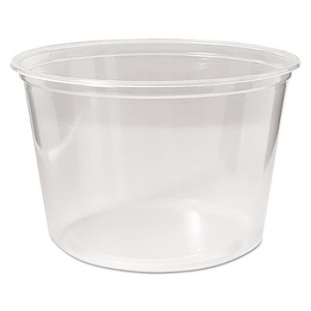 Microwavable Deli Containers, 16 oz, Clear, 500/Carton