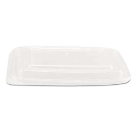 Clear Plastic Rectangular Microwave Safe Container Lid, Fits 24-32 oz., 300/Carton