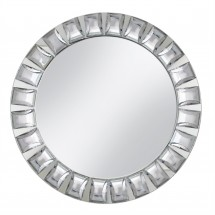 The Jay Companies 1330038 Round Jeweled Glass Mirror Charger Plate 13""