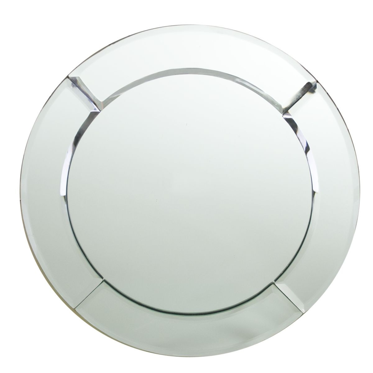 The Jay Companies 1330051 Round Mirror Glass Charger Plate 13""