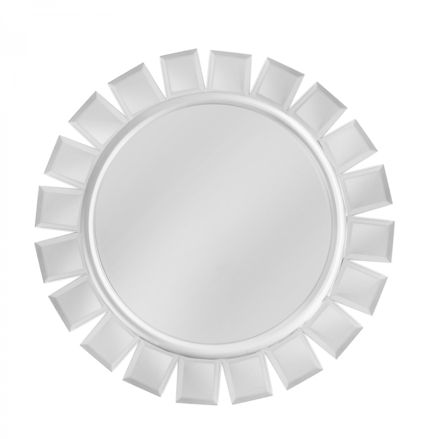 The Jay Companies 1331732 Round Mirror Charger Plate with Silver Accents 13""