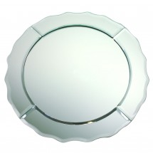 The Jay Companies 1330020 Round Mirror Glass Charger Plate 13""