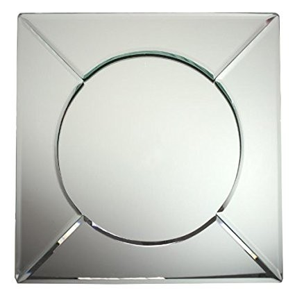 The Jay Companies 1330021 Square Mirror Glass Charger Plate 13&
