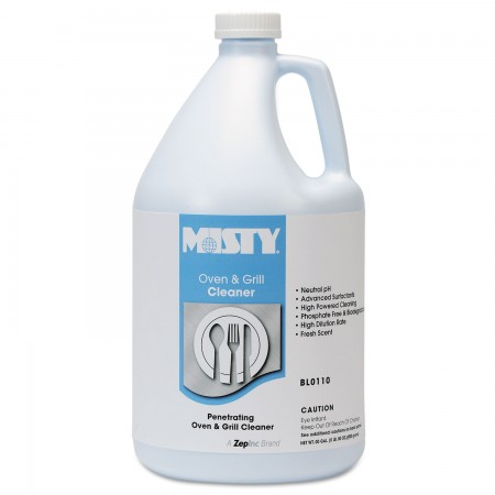 Misty Heavy-Duty Oven and Grill Cleaner, 1 Gallon, Bottle 4/Carton