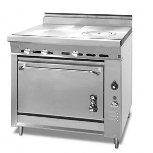 Montague 136-15 Legend 36 Heavy Duty Gas Range With Even Heat Hot Top & Ring / Cover Hot Top