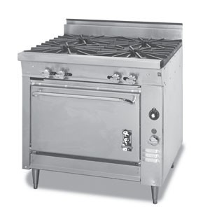 Montague 136-5A Legend 36 Heavy Duty Gas Range With Four 18 Open Burners