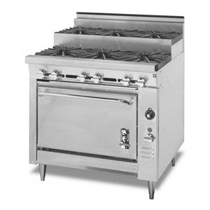 Montague 136-5S Legend 36 Heavy Duty Gas Range With Six Step-Up Open Burners