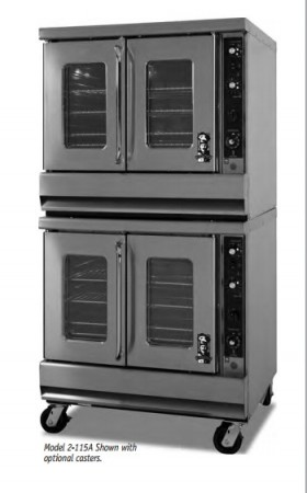 Montague 2-115A Vectaire Convection Oven With Vertical Opening Doors With Windows
