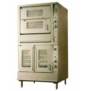 Montague 2-115B Vectaire Convection Oven With Top Horizontal & Bottom Vertical Open Doors With Windows