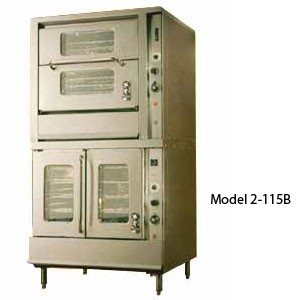 Montague 2-115C Vectaire Convection Oven With Top Vertical & Bottom Horizontal Opening Doors
