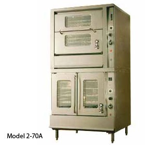 Montague 2-70C Vectaire Gas Convection Oven With Top Vertical & Bottom Horizontal Doors