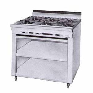 Montague 36-5 Legend 36 Heavy Duty Gas Range With Six 12 Open Burners With Open Cabinet Base