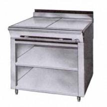 Montague-36-9ASE-Legend-36--Heavy-Duty-Gas-Range-With-Two-18--Even-Heat-Hot-Tops---Open-Cabinet-Base