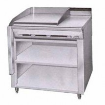 Montague-36-OE-Legend-36--Heavy-Duty-Gas-Range-With-24--Fry-Top---12--Even-Heat-Hot-Top-With-Open-Cabinet-Base