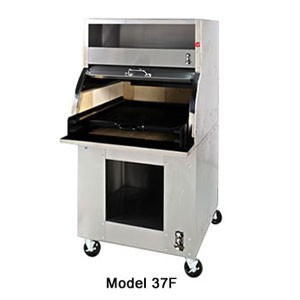 Montague 37F/BS 46 Deep Charcoal Broiler With Black & Stainless Steel Trim