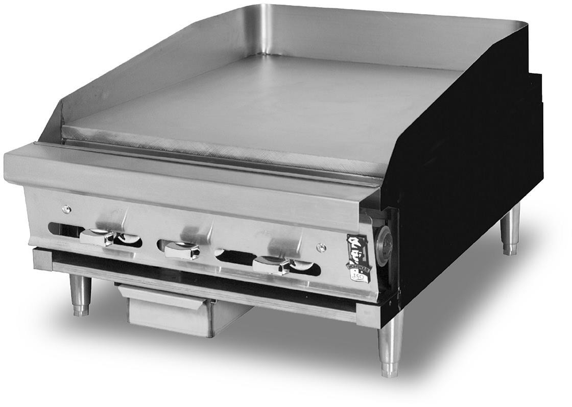 ... Duty Add-a-Unit Countertop Gas Range With Fry Top - Manual Controls