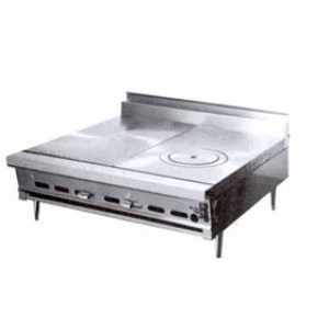... Heavy Duty Add-a-Unit Countertop Gas Range With Two Even Heat Hot Tops