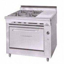 Montague-C36-2E-Legend-36--Heavy-Duty-Countertop-Gas-Range-With-4-Open-Burners---Even-Heat-Hot-Top