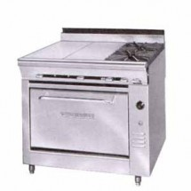 Montague-C36-3E-Legend-36--Heavy-Duty-Countertop-Gas-Range-With-Even-Heat-Hot-Top---2-Open-Burners