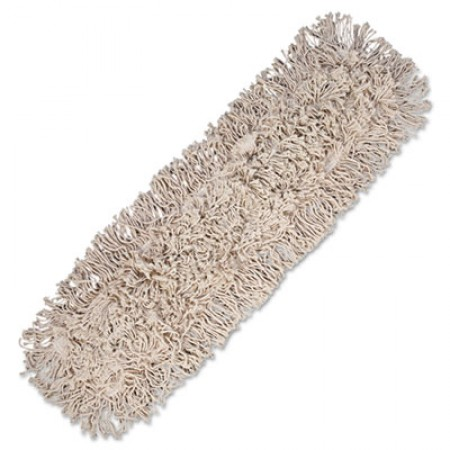 Mop Head, Dust, Cotton, 24 x 3, White